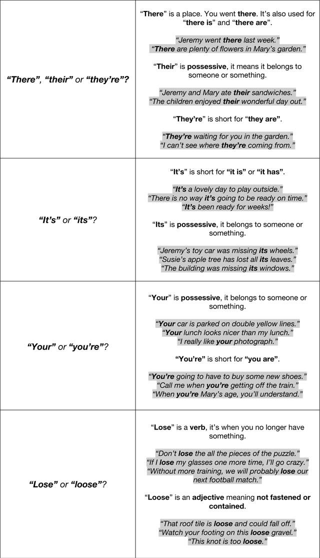 Grammar - top tips 2