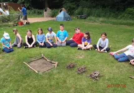 Maple Class camped overnight at Holt Hall