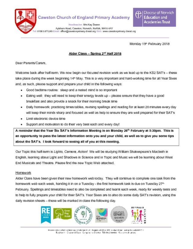 thumbnail of Alder Class T2B Half-Termly Letter (2)