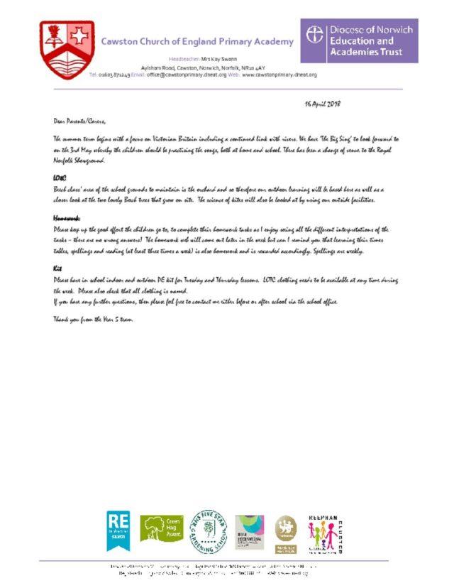 thumbnail of Beech Class T3a Letter