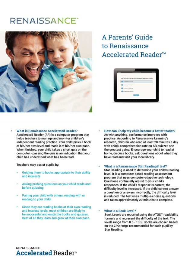 thumbnail of Parents' Guide to Accelerated Reader