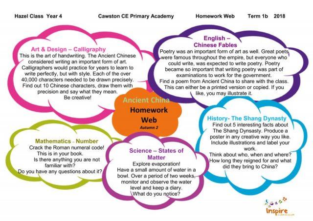 thumbnail of Hazel Class Homework web Term 1b Ancient China