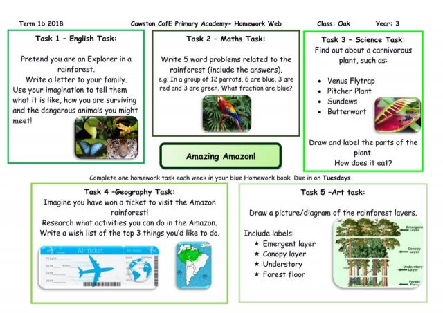 thumbnail of Oak Class Yr 3 Homework Web Term 1B