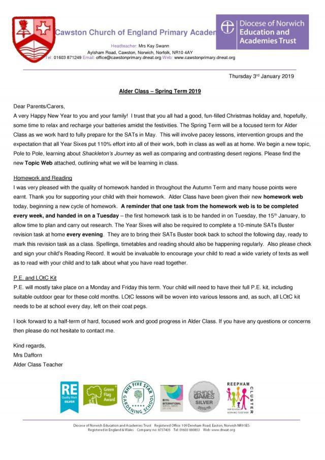 thumbnail of Alder Class Term 2A Letter