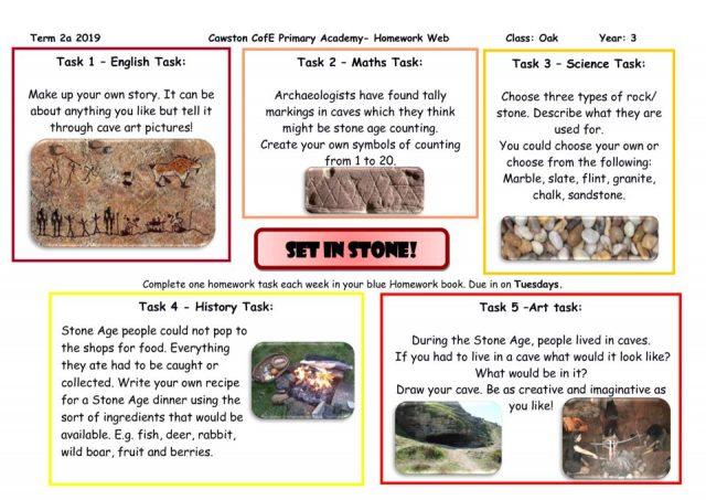 thumbnail of Oak Class Yr 3 Homework Web term 2A