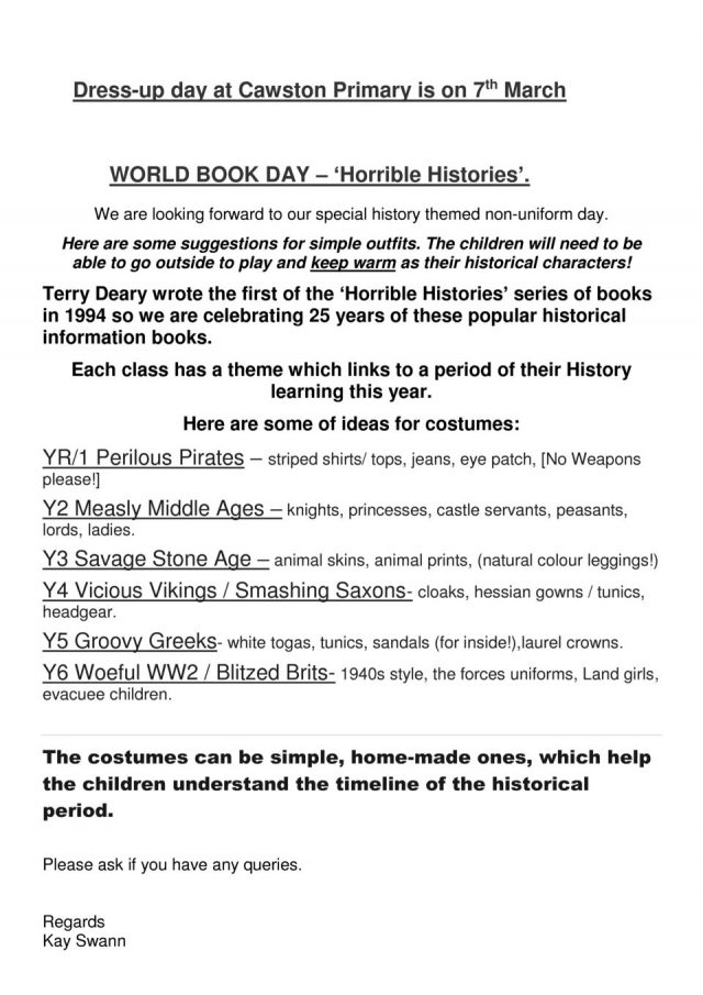 thumbnail of WORLD BOOK DAY costumes letter