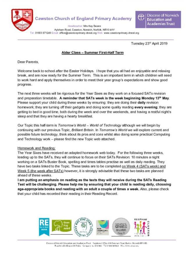Alder Class Summer 1 2019 | Cawston Church of England Primary Academy