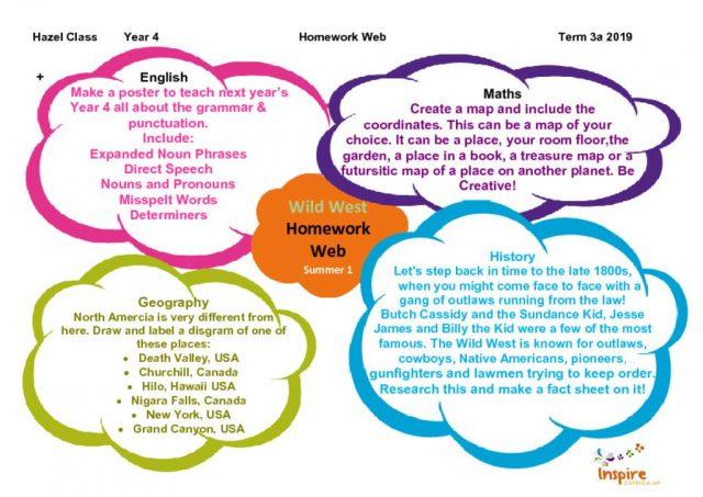 thumbnail of Hazel Class Homework Web Term 3a