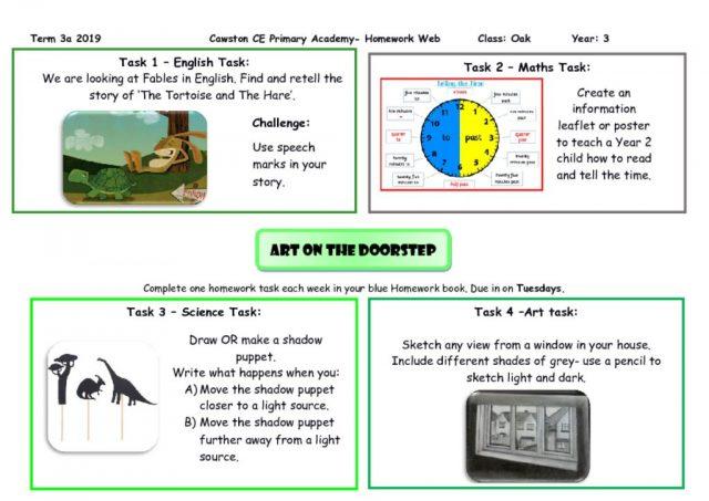 thumbnail of Oak Class Yr 3 Homework Web Term 3A