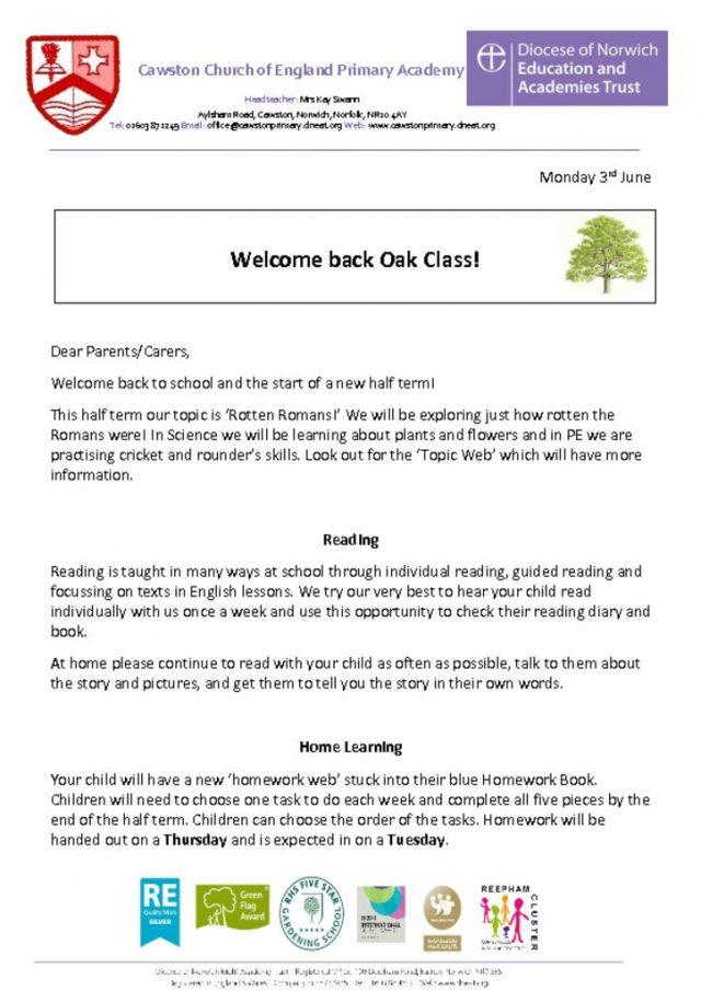 thumbnail of Oak Class Letter 3b
