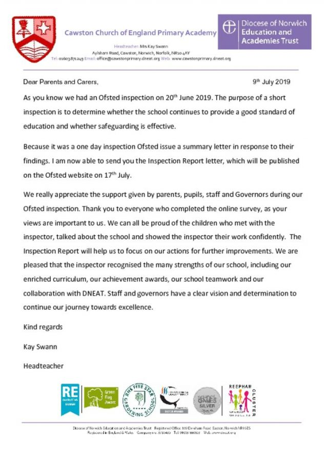 thumbnail of Ofsted Letter to Parents