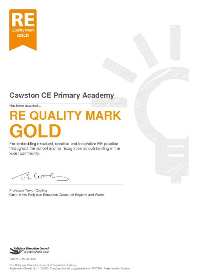 thumbnail of REQM Gold Award Cawston CE Primary Academy[29990]