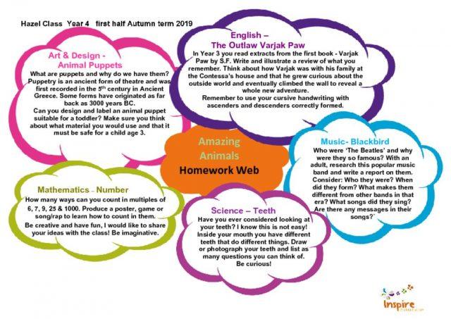 thumbnail of Hazel Class Homewoprk Web Term 1a