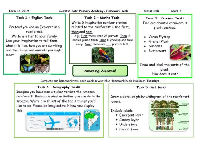 thumbnail of Oak Class Yr 3 Homework Web T1B